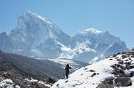 Hike in himalaya Stock Photos