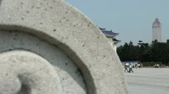 Entrance to Chiang Kai-shek Memorial Hall Reveal - stock footage