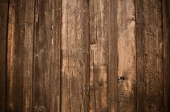 rustic dark wood background - stock photo