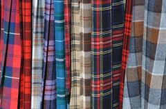 Stock Photo of scottish kilts