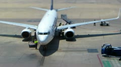 Airline at gate Stock Footage