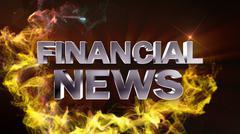 Financial News - stock illustration