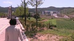 Unification Church headquarters Korea - stock footage