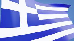 greece flag close up - stock illustration