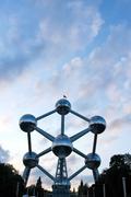 Atomium monument in brussels Stock Photos