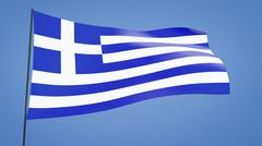 greece flag - stock illustration