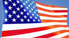usa flag close up - stock illustration