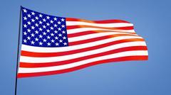 usa flag - stock illustration