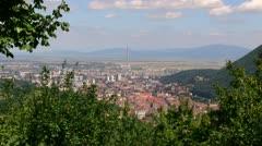 Brasov aerial Stock Footage