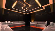 Orange electronic luxury room Stock Illustration