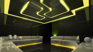 Yellow electronic luxury room Stock Illustration
