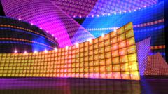 Stock Illustration of the disco stage set orange
