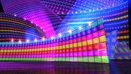 The disco stage set rainbow Stock Illustration
