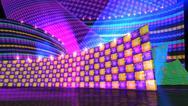 The disco stage set checker c Stock Illustration