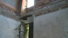 Abandoned villa interior Stock Footage