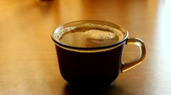 Hand taking a cup of coffee Stock Footage