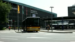 Bus Station in Luzern Switzerland Stock Footage