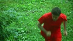 Fugitive fugative convict on the run Stock Footage