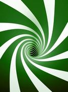 Abstract green spiral Stock Illustration