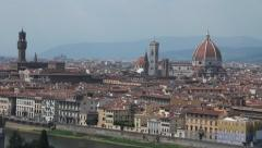 """View of Florence, the """"duomo"""" and the town hall Stock Footage"""