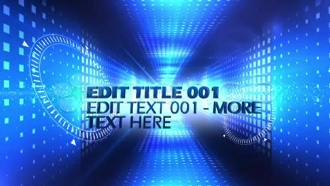 After Effects Project - Pond5 Blue Text Tunnel 11964278