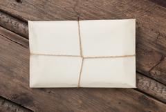 parcel wrapped - stock photo
