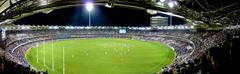 The Gabba Stadium (panoramic shot)  Stock Photos