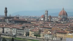 "Static shot of Florence, the ""duomo"" and the town hall - stock footage"