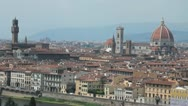 "Static shot of Florence, the ""duomo"" and the town hall Stock Footage"