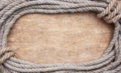 picture frame of rope - stock photo