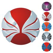 Abstract sphere icon set Stock Illustration