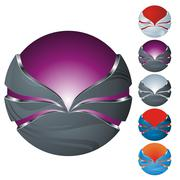 Stock Illustration of abstract sphere icon set