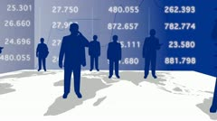 World of business and stats Stock Footage