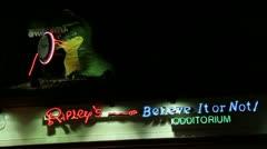 Ripley's Believe It or Not Odditorium Stock Footage