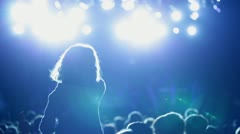 anonymous family at a concert - stock footage