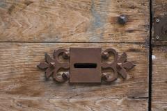 Stock Photo of keyhole of old doorlock
