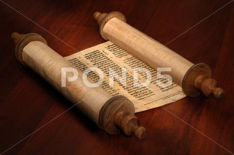 Stock photo of bible scrolls