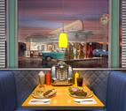 Stock Illustration of retro diner interior
