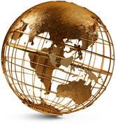 eastern hemisphere globe - stock illustration