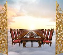Heavenly banquet Stock Illustration