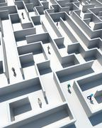 Maze to success Stock Illustration