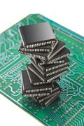 Pile of microchips Stock Photos