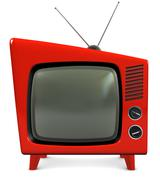 1950s tv set - stock illustration