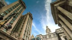 Manhattan Municipal Building in New York City, USA in 4K (tilt) Stock Footage