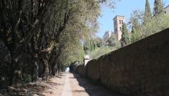 Via Crucis in Cortona, Italy Stock Footage