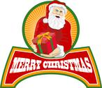 Merry christmas santa claus. Stock Illustration