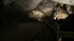 Turist in cavern Stock Footage