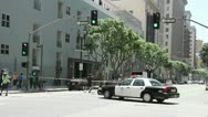 Stock Video Footage of Police cordon off a crime scene in Los Angeles