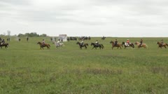 Stock Footage Clips - HD1080p - Cavalry riding across plains Stock Footage