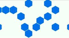 Hexagon chemical molecular. - stock footage